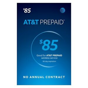 AT&T - AT&T Prepaid $85 Refill Top-Up Prepaid Card , AIR TIME  PIN / RECHARGE
