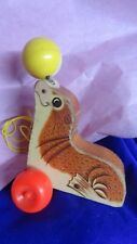 Vintage Fisher Price #694 Seal W Ball Pull Toy