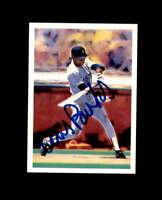 Ellis Burks Hand Signed 1989 Score Scoremasters Boston Red Sox Autograph