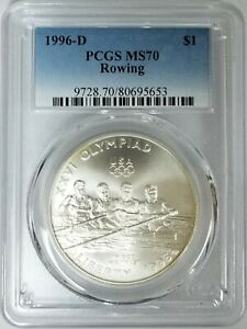 1996-D Rowing  One Dollar $1 PCGS MS70