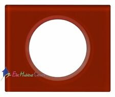 Plaque simple Céliane matière verre carmin Legrand 69471