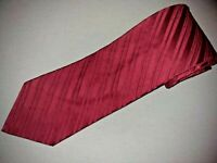 New City Of London Tie Solid Red Stripe Woven Jacquard Luxury Designer Necktie
