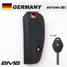 Leather Key fob Holder Case Chain Cover FIT For BMW E61 E53 E85 E36 E46 031B
