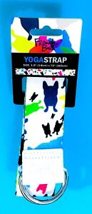 NEW! French Bull Yoga Strap Happy Terrazzo Fitness Pilates Exercise Workout