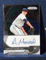 2020 Panini Prizm RA-AM Adrian Morejon RC Auto San Diego Padres Rookie Autograph