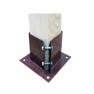"""YDS Bolt Down Fence Post Support (75mm (3"""") or 100mm(4""""))"""