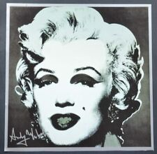 "Andy Warhol, ""Marilyn Monroe"", black background.  Hand Signed by Warhol, COA."