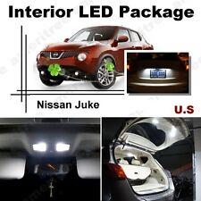 For Nissan Juke 2011-2013 Xenon White LED Interior kit + White License Light LED