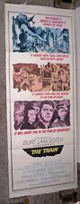 THE TRAIN original 1965 14x36 insert movie poster BURT LANCASTER/JEANNE MOREAU
