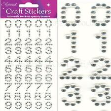 Eleganza Clear Rhinestone Alphabet Letter or Number Self Adhesive Craft Stickers Letters