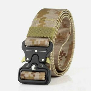 Men Military Tactical Rigger Waist Belt Buckle Army Combat Waistband Adjustable