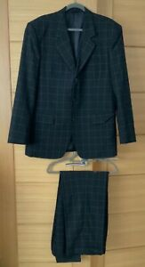 'Boss Collection' Mens Made to Measure Suit - Large - Black Check - Excellent