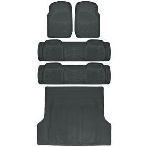 Car Floor Mat for 3 Row SUV Black Extra Heavy Duty Trimmable Fit Trunk Mat⭐⭐⭐⭐⭐
