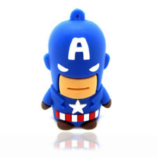New Cute Captain America Cartoon Model USB2.0 8GB flash drive memory stick Gift