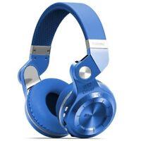 Casque Bluetooth Bluedio T2+ sans fil avec microphone micro-SD et FM radio Bleu