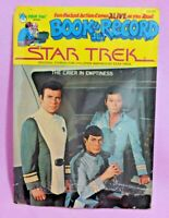 Vtg Star Trek Book & Record  The Crier in Emptiness TOS Peter Pan