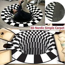 Teppichboden 3D Whirlpool Halluzination Vorleger Pad Rutschfeste Fußmatte Decor