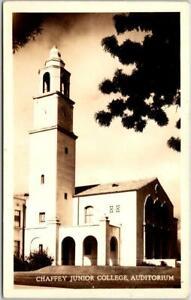 """ONTARIO, California RPPC Real Photo Postcard """"Chaffey Junior College Auditorium"""""""