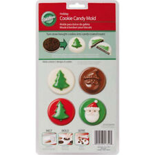 Jolly Fun Christmas Chocolate Cookie Candy Mold from Wilton #1359