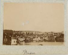 Norvège, Bergen, vue générale de la ville  vintage albumen print,Photos proven