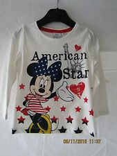 NEW DISNEY LONG SLEEVE TOP AMERICAN STAR MINNIE MOUSE.