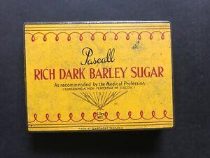 PASCALL VINTAGE 1950's RICH DARK BARLEY SUGAR TIN, MADE AT CLAREMONT TASMANIA