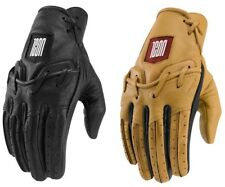 2019 Icon 1000 Baserunner Leather Motorcycle Riding Gloves - Pick Size / Color