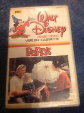 Walt Disney Erstauflage Popeye Home Video Verleih Cassette weisses Cover VHS