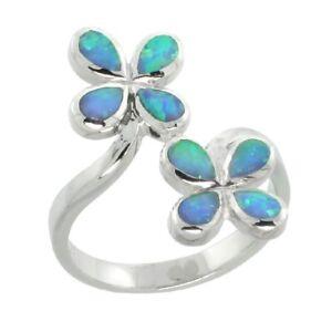 Sterlingsilber Opal Blume Ring