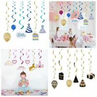Happy Birthday Swirl Ceiling Hanging Supplies For Childern Birthday Party Decor