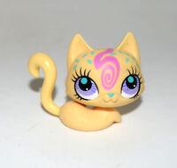 Littlest Pet Shop LPS Animal Yellow Kitty Persian Cat 3058 Figure Child Girl Toy