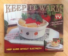 Microwaveable warm Plate/Warming Tray/ no chemicals / no batteries.