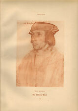 large reproduced  portraits from  the court of henry v111 .sir thomas elyot