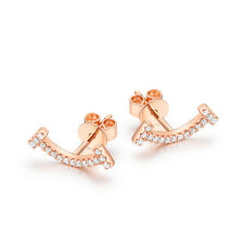 Natural SI2/H Diamonds 0.16ct Engagement Earrings Solid 14K Rose Gold Engagement