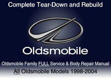 Oldsmobile Family 1998-2004 Custom FULL Service Repair Shop Manual DvD Software