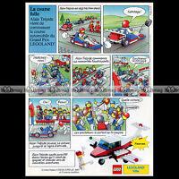LEGO LEGOLAND Ville Motor Speedway Turbo Prop 6687 -1987 Pub Publicité Ad #A1041