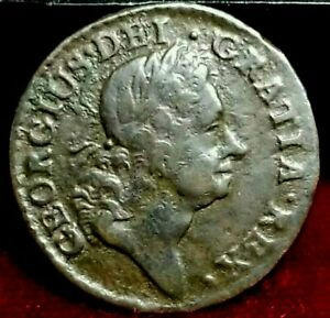 1723 Farthing Woods Hibernia Colonial Coin