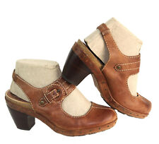 FRYE Candice Buckle Light Brown Leather Slingback Clog Style 73210 Size 8M