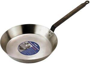 Sunnex Commercial Black Iron Heavy Duty Frying Pan Large 30cm