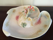 Franz By the Sea Design Porcelain Sculptured Platter with 2 Tea Lites - BNIB