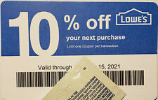 Lot of (100) LOWES Coup0ns 10% OFF At Competitors ONLY notAtLowes Exp Mar15 2021