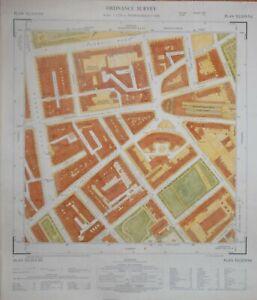 LONDON - SOUTH KENSINGTON, ONSLOW SQUARE, THURLOE STREET..OS MAP 1962.