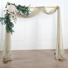 18Ft  Sheer Organza Curtain Panels, Window Scarf Valance Wedding Arch Draping