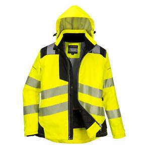 Portwest PW382 - Ladies Yellow Hi-Vis Winter Jacket Coat PPE Size XS - 3XL