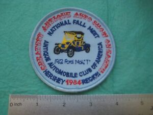 Hershey PA Antique Automobile Club Of America National Fall Meet 1984 Patch