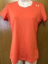 UNDER ARMOUR SONIC Short sleeve Orange FITTED T-SHIRT TOP size S women's EUC  V7