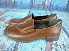 👠 Rieker Antistress Brown Leather Comfort Loafers Shoes Women's 40 / 9 Germany
