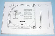 THORENS TD124 MK1 / MK2 MOUNTING TEMPLATE - A HIGH QUALITY PERFECT COPY