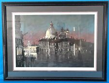 """John Kelly """"Venice"""" Original Lithograph Limited Edition Signed & Framed"""