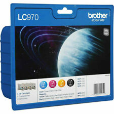GENUINE AUTHENTIC BROTHER LC970 VALUE PACK INK CARTRIDGE 4 PACK LC970VALBP